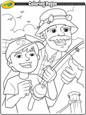 Fishing with Grandpa Coloring Page ...crayola.com
