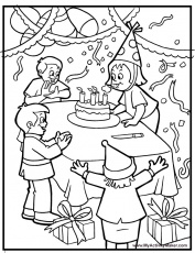 coloring pages birthday party