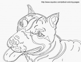 Pit Bull - Coloring Pages for Kids and for Adults
