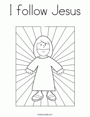 I follow Jesus Coloring Page - Twisty Noodle
