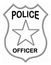Police Officer Badge Coloring Page - Coloring Pages for Kids and ...