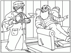 Mrs Santa Claus Christmas Coloring Pages - Colorine.net | #19497