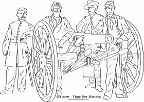 Civil War - Coloring Pages for Kids and for Adults