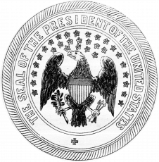 1850 seal design seal of the president of the united states coloring page