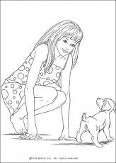 BARBIE DOLL coloring pages - Barbie's dog
