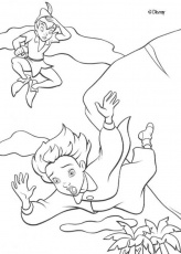 Peter Pan coloring pages - Captain Hook and Smee