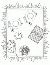 Gallery For > Picnic Basket Coloring Page