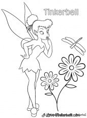 coloring pages tinkerbell