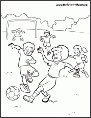 Free Sports soccer coloring pages for kids | coloring pages