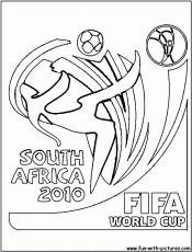 south Africa 2010 logo coloring pages | coloring pages