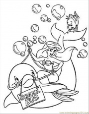 Coloring Pages Riding Dolphin Coloring Page (Mammals > Dolphin