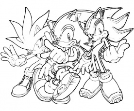 Silver Sonic Coloring Pages | Cartoon Coloring Pages | Kids