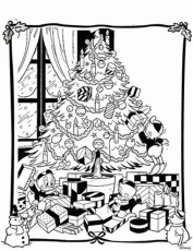 Christmas Tree With Presents Coloring Pagesdisney Christmas Tree
