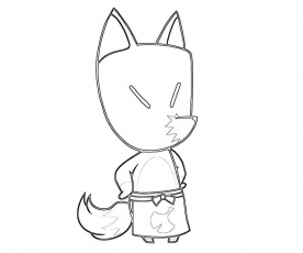 search results animal crossing coloring pages