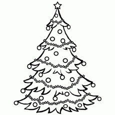 christmas tree coloring picture