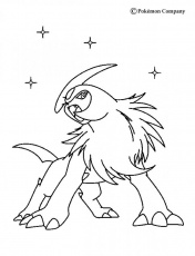 DARK POKEMON coloring pages - Absol