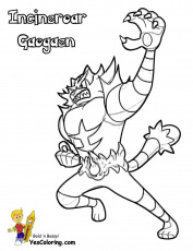 Incineroar Pokemon Coloring Page - youngandtae.com | Pokemon coloring pages,  Pokemon coloring, Coloring pages