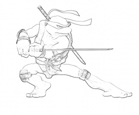Teenage Mutant Ninja Turtle - Coloring Pages for Kids and for Adults
