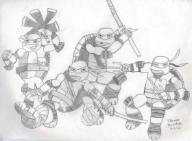 Teenage Mutant Ninja Turtles Coloring Pages Michelangelo ...