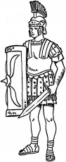 ancient roman war coloring pages