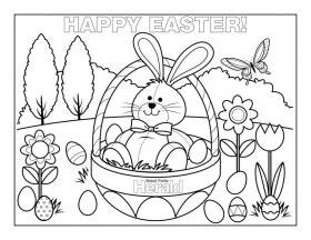28 Printable Coloring Pages for Kids for: Easter Coloring ...