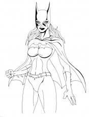 Free Printable Batgirl Coloring Pages For Kids