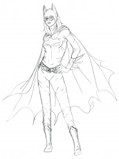 Coloring Pages : Coloring Pages Simple Hand Drawing Batgirl ...