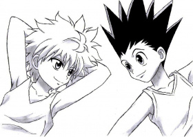 hunter x hunter - I should color this and pin it to my desk ...
