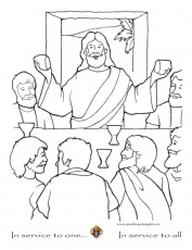The Last Supper Coloring Page - eassume.com