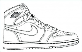 Personable Nike Air Max Coloring Pages Coloring For Sweet ...