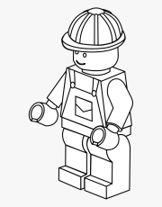Free Coloring Page Kids - Lego Builder Coloring Pages, HD Png Download ,  Transparent Png Image - PNGitem