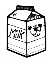 Puppy Picture on Milk Carton Coloring Page - NetArt