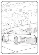 Printable Audi Cars Coloring Book & Page – 12