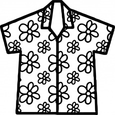 cool Hawaiian Shirt Coloring Page | Coloring pages, Printable flash cards, Coloring  pages for kids
