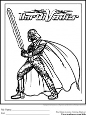 Star Wars Coloring Pages Darth Vader | Coloring Pages | Pinterest ...