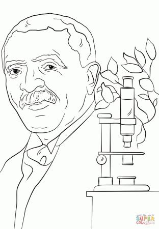 George Washington Carver Coloring Page