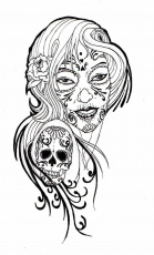 Coloring Pages: Coloring Pages For Adult Tattoo Sugar Skull