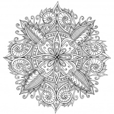 Free Mandala Coloring Page For Adults