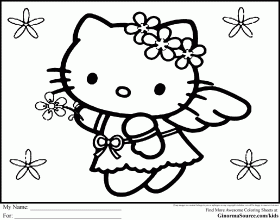 Hello Kitty Coloring Pages For Kids Free