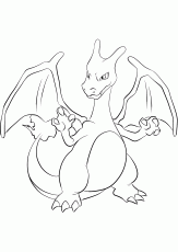 Fire Pokemon coloring pages