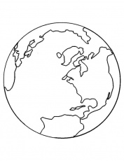 Earth Globe Coloring Pages - Free & Printable Coloring Pages For ...