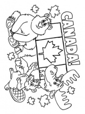 Canada Day Printable Coloring Pages | Coloring Page Blog