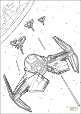 Anakin Skywalker's Eta-2 starfighter coloring page | Free Printable Coloring  Pages