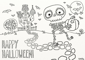 Coloring pages halloween | www.bloomscenter.com
