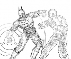 Batman Freeze Coloring Pages