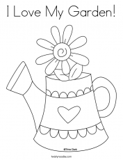 I Love My Garden Coloring Page - Twisty Noodle