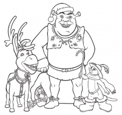 Shrek Printable Coloring Pages : Coloring Book Area Best Source