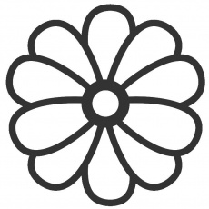 large flower template printable