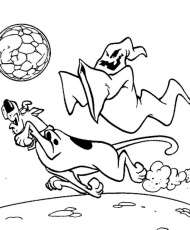 A Ghost Butler Scooby Doo Coloring Page - Cartoon Coloring Pages