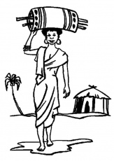 Coloring page African woman - img 9345.